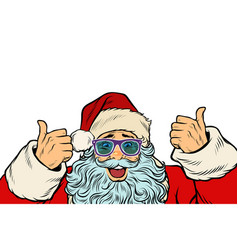 isolated white background santa claus funny vector image vector image