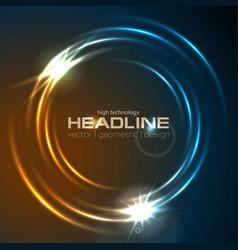 shiny glowing neon circle swirl abstract vector image