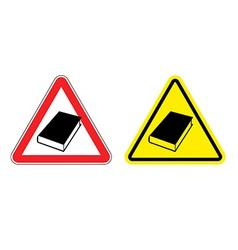 Warning sign formation Danger of Yellow Book vector image