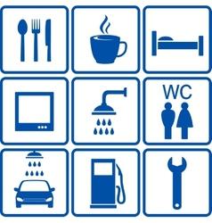 automotive road signs vector image