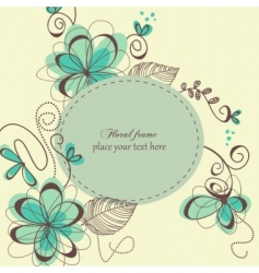 decorative retro card vector image vector image