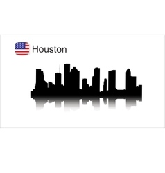 Houston silhouette vector image