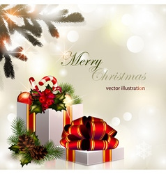 2013 11 024 Christmas composition on brilliant vector image