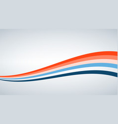 Abstract background color waved lines for vector