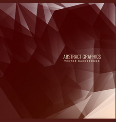 Abstract low poly brown background vector