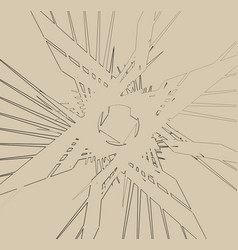 Abstract print texture with bevel-like effect vector