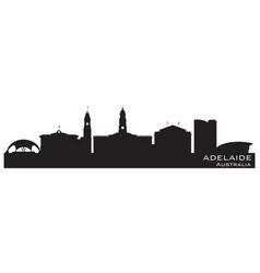 adelaide australia city skyline silhouette vector image