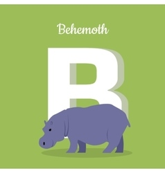 Animals alphabet letter - b vector