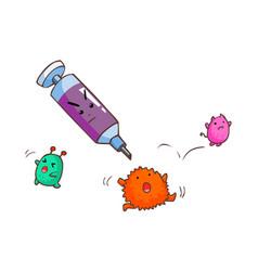 Bacteria run away from syringe vector