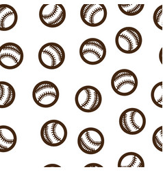 baseball pattern seamless isolated vector image