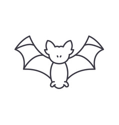 bat line icon concept bat linear vector image