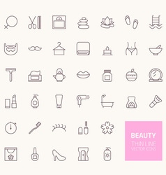 Beauty Outline Icons for web and mobile apps vector image