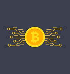 bitcoin digital currency digital money concept vector image