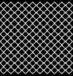 black and white quatrefoil outline ornament vector image