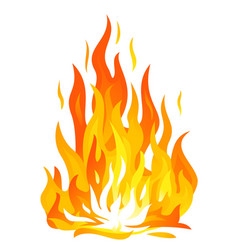 Bonfire flame isolated vector
