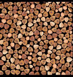 Buckwheat food seamless pattern organic vector