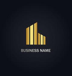 Building line company logo vector