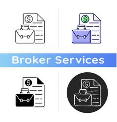 Business broker icon vector