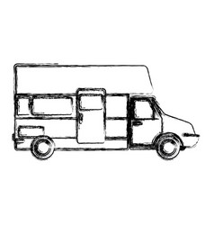 caravan car vehicle vector image