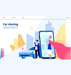 carsharing landing carpooling travel multiple vector image