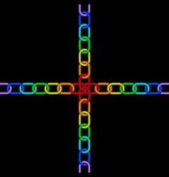 chain rainbow vector image