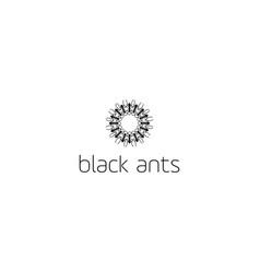 circle black ants logo design vector image