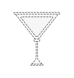 Cocktail with lemon garnish icon image vector