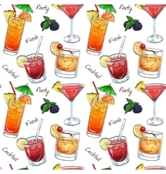color pattern new era drinks vector image