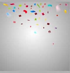 colorful confetti festive falling shiny vector image