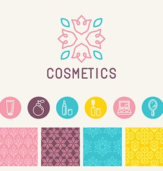 Cosmetics logo design element vector