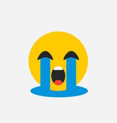 Crying emoji sad emotion vector