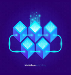 Cryptocurrency data abstract design vector