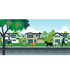Dog leash in public parks vector