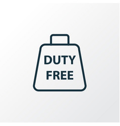 duty free zone icon line symbol premium quality vector image