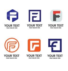 elegant letter f logo concept vector image