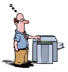 employee copy machine vector image