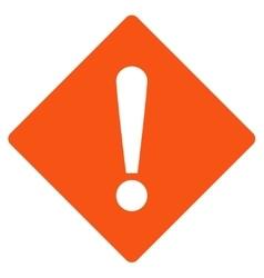 Error flat orange color icon vector