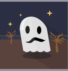 fabric ghost icon set of great flat icons design vector image