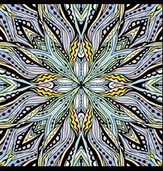 Floral mandala square pattern vector