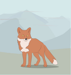 fox on nature background vector image