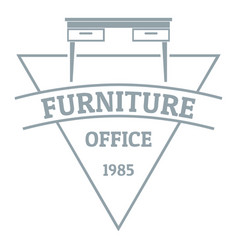 furniture logo simple gray style vector image