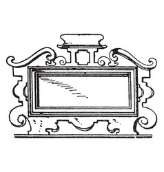 German 17th century architectural frame was an vector