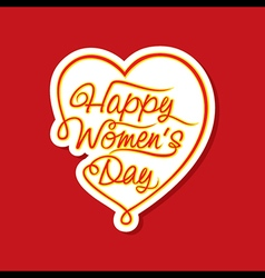 happy women day sticker or label design vector image