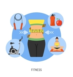 Healthy lifestyle and fitness concept vector