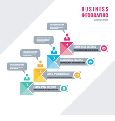 Infographic business concept - numbered steps vector image