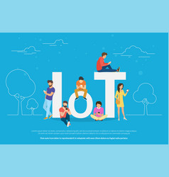 internet things concept vector image