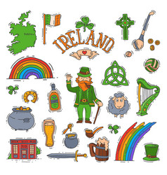 Ireland irish saint patrick holiday with vector