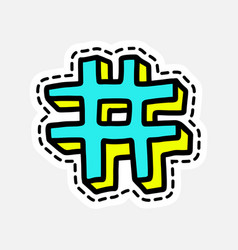 Isolated patch design vector