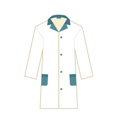 Laboratory uniform white gown icon flat vector