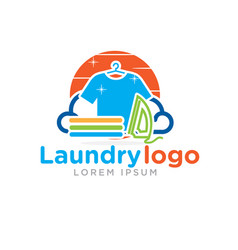 Laundry logo designs vector